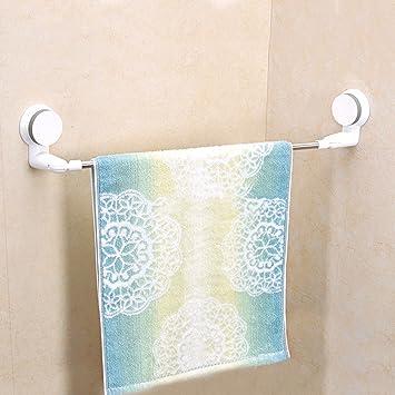 Hlluya Puerta Toalla el cajón mágico no es Bordado Marco de Acero Peut Transformer con toallero de la Sala de baño 打 Ventosa con toallero: Amazon.es: Hogar