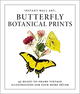 instant wall art butterfly botanical prints 45 vintage