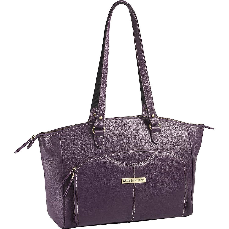 "Amazon.com: Clark & Mayfield Alder Leather 15.6 "" Laptop Handbag (Purple):  Computers & Accessories"