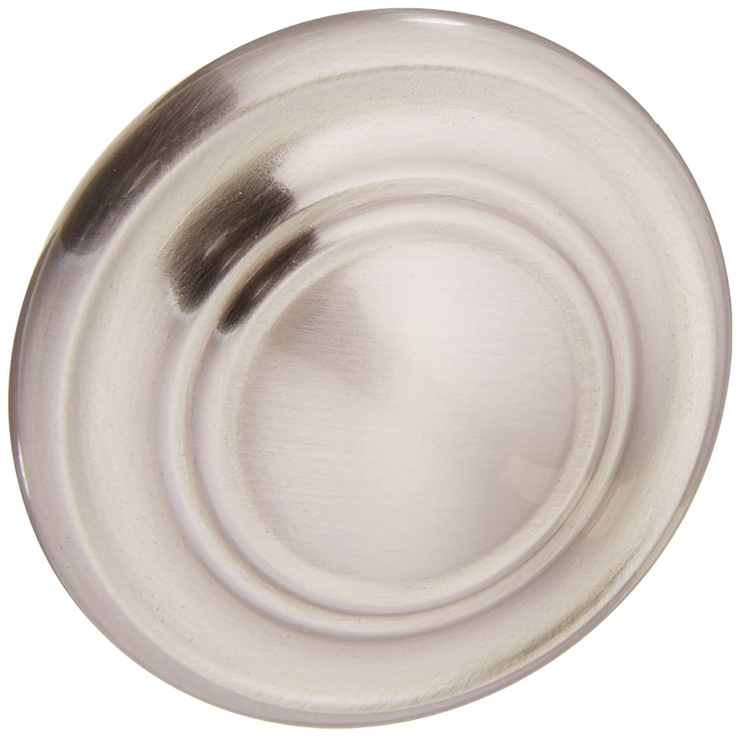 Amerock BP1586-2-G10 Inspirations 3-Ring Large Oversized 1-3/4 Inch Diameter Satin Nickel Round Cabinet Hardware Knob/Bi-fold Closet Door Knob - 10 Pack