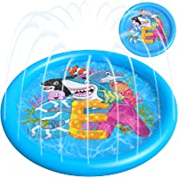 Deals on Delux Splash Pad Upgraded 68-inch Water Toys
