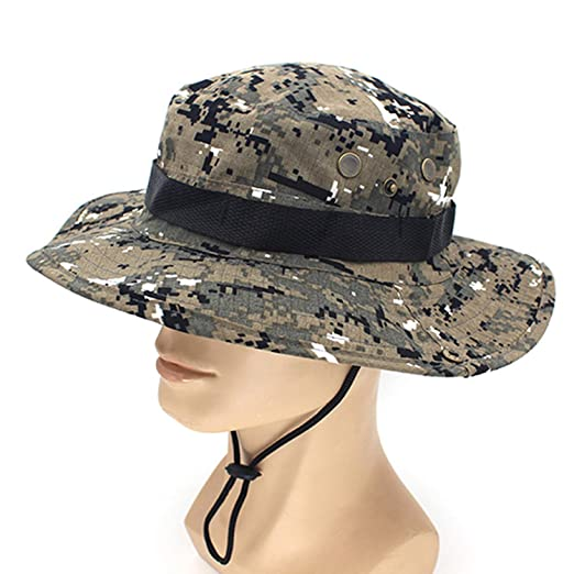 Image Unavailable. Image not available for. Color  Casual Camouflage Bucket  Hat with String ... 441c71c955b