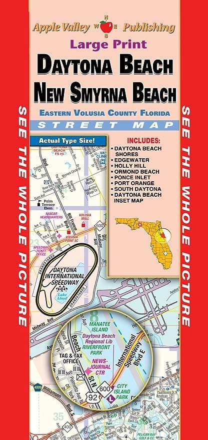 New Smyrna Beach Florida Map.Amazon Com Daytona Beach New Smyrna Beach Fl Fold Map Office