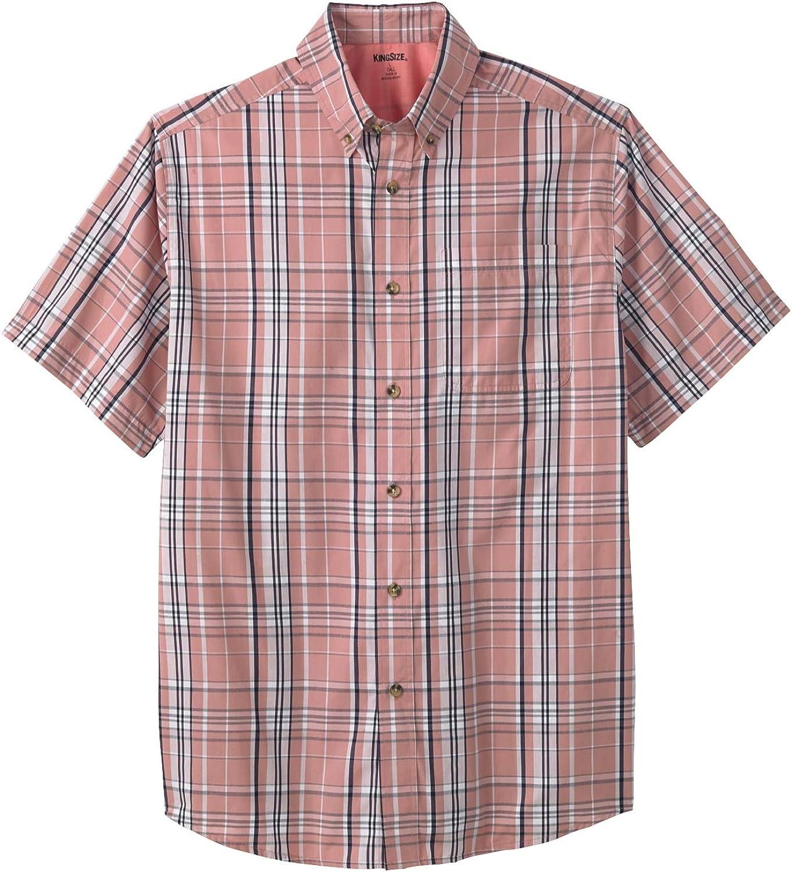KingSize Mens Big /& Tall Short-Sleeve Sport Shirt