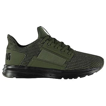 0dda035b4f3 Puma Enzo Street Knit Trainers Mens Green Black Athletic Sneakers Shoes  (UK9.5