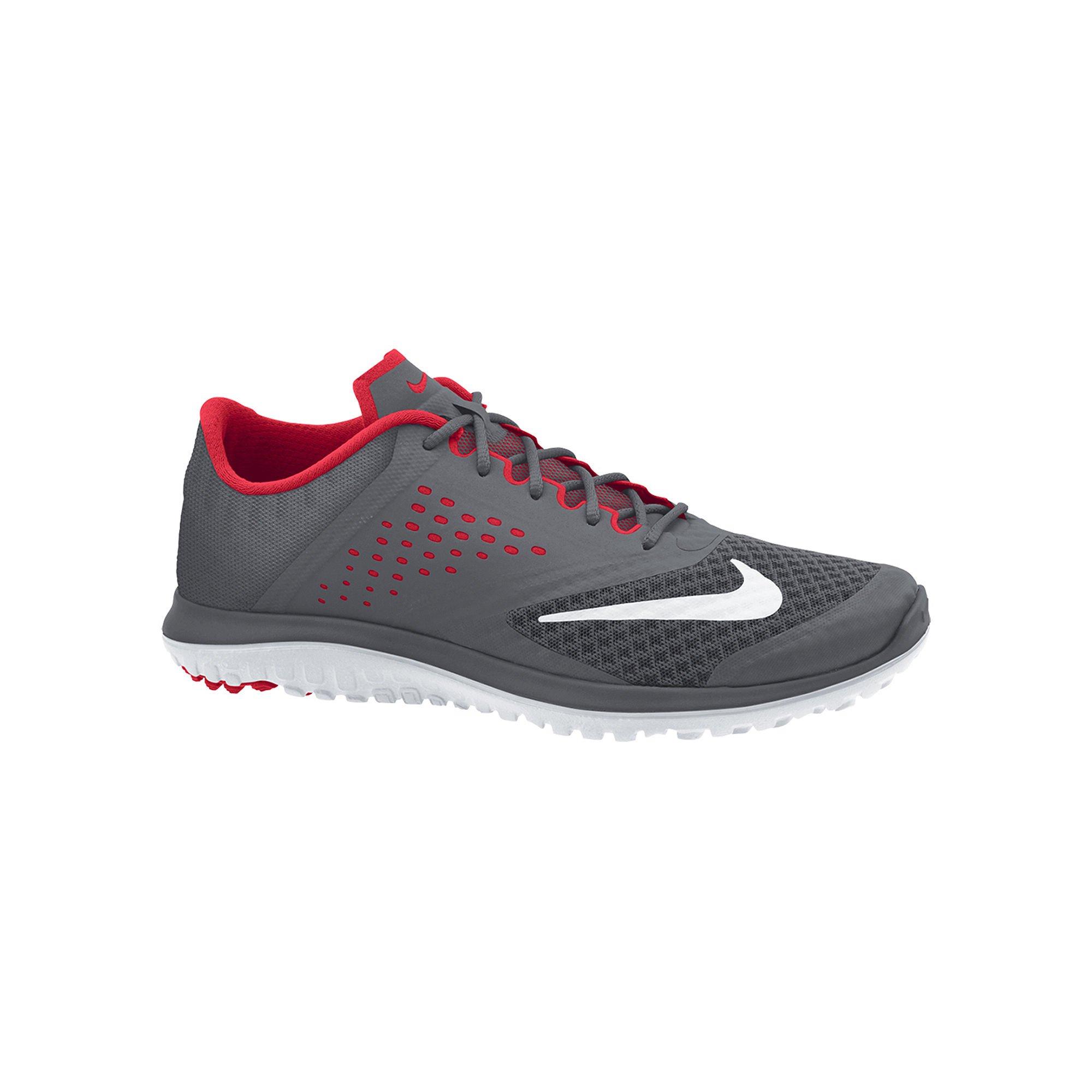best service 09187 fd7d8 Galleon - NIKE Men s FS Lite Run 2 Shoe, Dark Grey White University Red, 8  D US