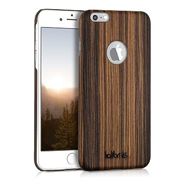 kalibri Funda para Apple iPhone 6 Plus / 6S Plus - Carcasa Trasera [Ultra Delgada] de [Madera] - Cover Protector [marrón]