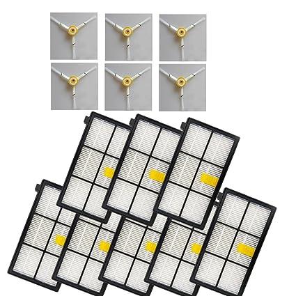 LOVE(TM)6 Pack 3-Armada de cepillo lateral y 8 Reemplazo del