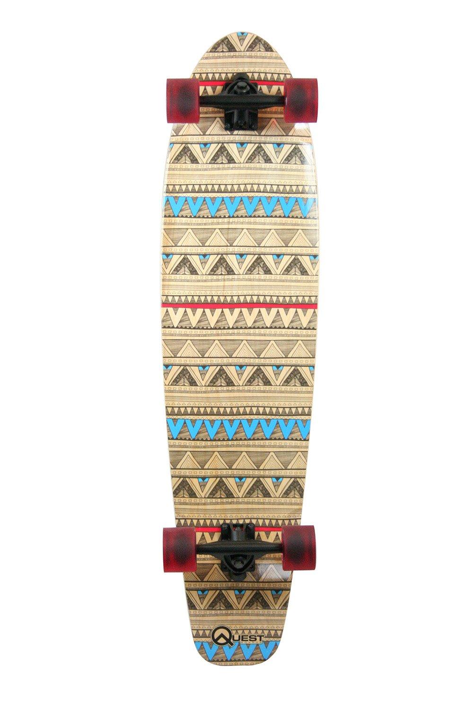 Amazon.com   Quest Native Spirit Kick Tail Longboard Skateboard fca9f535db