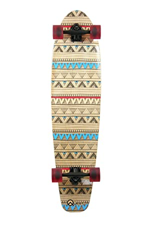 Quest Native Spirit Kick Tail Longboard Skateboard, 40-Inch