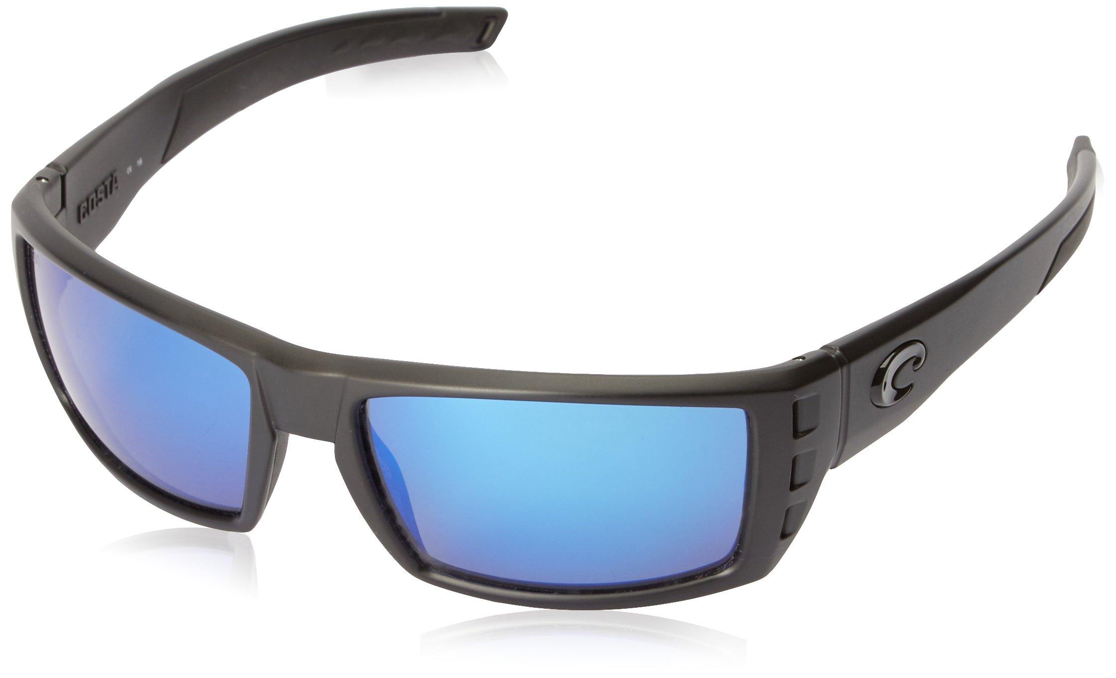 Costa Del Mar Rafael Sunglasses Blackout / Blue Mirror 580Glass by Costa Del Mar