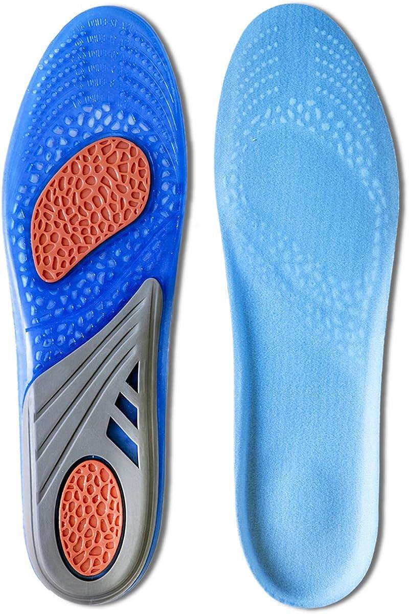 Kalak Plantillas GEL Sports Confort Cuttable Insoles para la amortiguaci/ón
