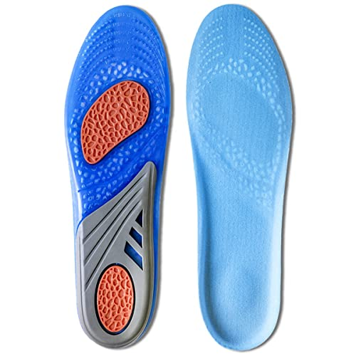 Kalak: Plantillas GEL Sports Confort Cuttable Insoles para la amortiguación: Amazon.es: Zapatos y complementos