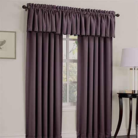 Brylanehome Madison Room Darkening Rod Pocket Curtain (Plum,54u0026quot; ...