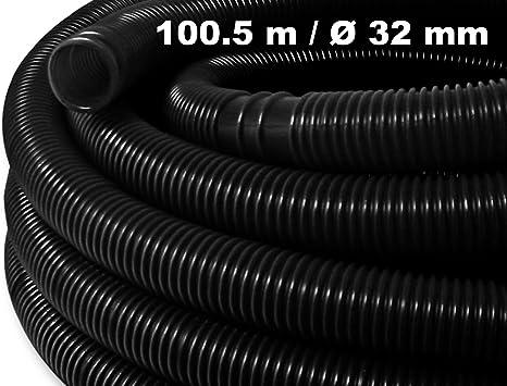 Solar NOIR Tuyau de piscine flottant sections pr/éform/ées 165g//m 15m 32mm Made in Europe