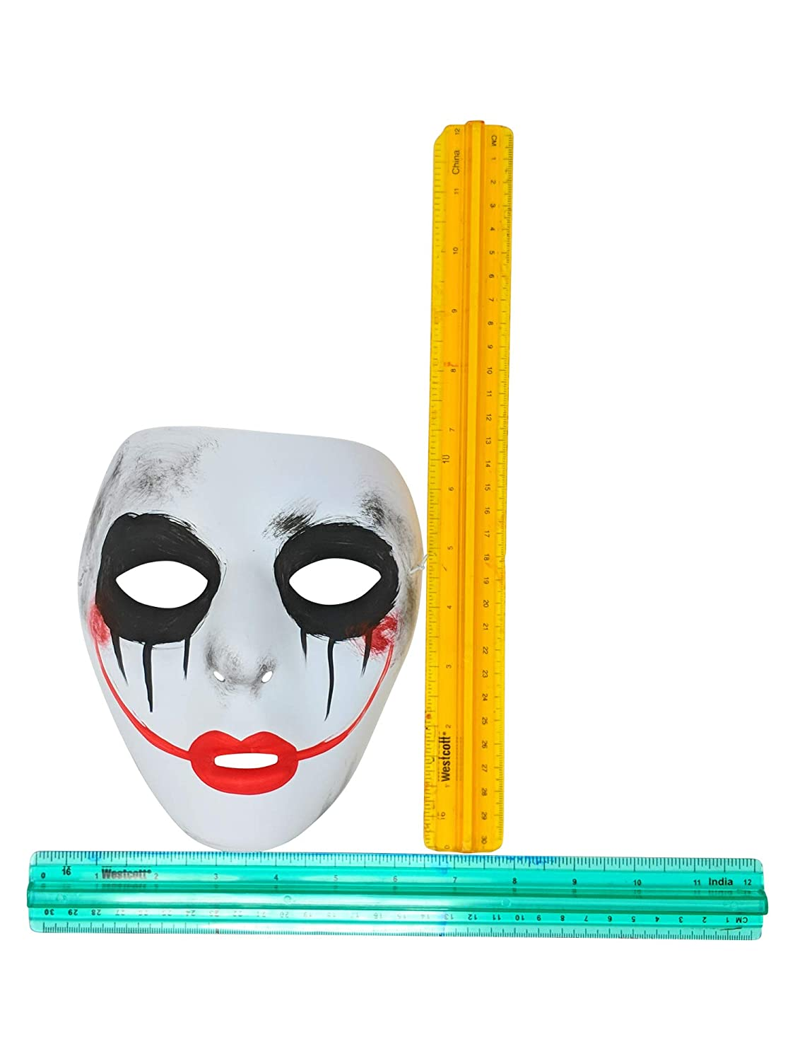Success Creations Smiley Similar Purge Scary Masquerade Mask for Men and Women White