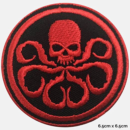 wld898 Real Empire Hydra Red Skull Logo Captain America Embroidered Iron On//Sew On Logo Badge Patch DC Comics Tshirts Dress