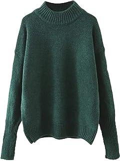 9b21e7c431 Milumia Women s Crew Neck Ribbed Trim Drop Shoulder Knit Basic Sweater