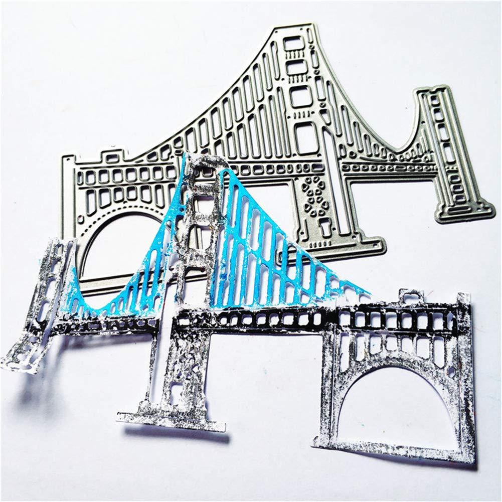 Metal Cutting Dies Stencils for DIY Scrapbooking Stamps Craft Embossing Making Stencil Template tools London bridge Cutting Dies