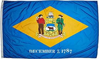 product image for Annin Flagmakers Model 140880 Delaware Flag Nylon SolarGuard NYL-Glo, 5x8 ft, 100% Made in USA to Official State Design Specifications