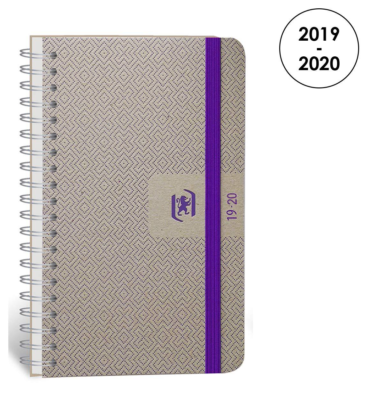 Oxford Nude agenda escolar (años 2017 – 2018 1 día por página 352 páginas 12 x 18 cm), color morado