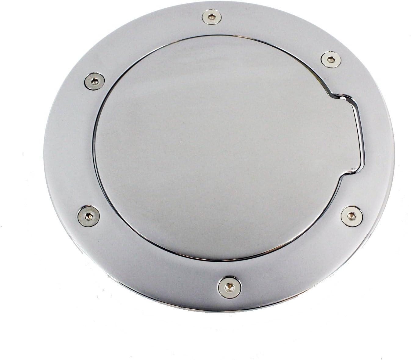 Chrome All Sales 6152C 6 3//8 Ring Ami Race Style Billet Fuel Door