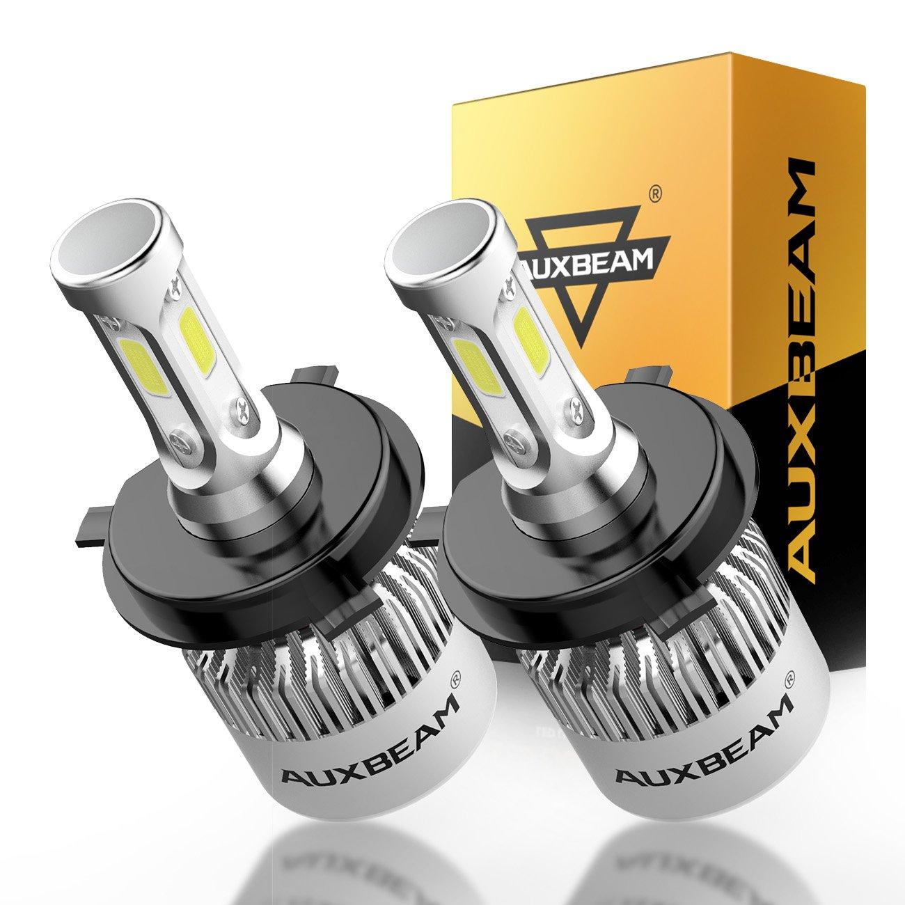 Auxbeam LED Headlight Bulbs F-S2 Series LED Headlights with 2 Pcs of H4 LED Conversion Kits72W 8000lm Hi-Lo Beam