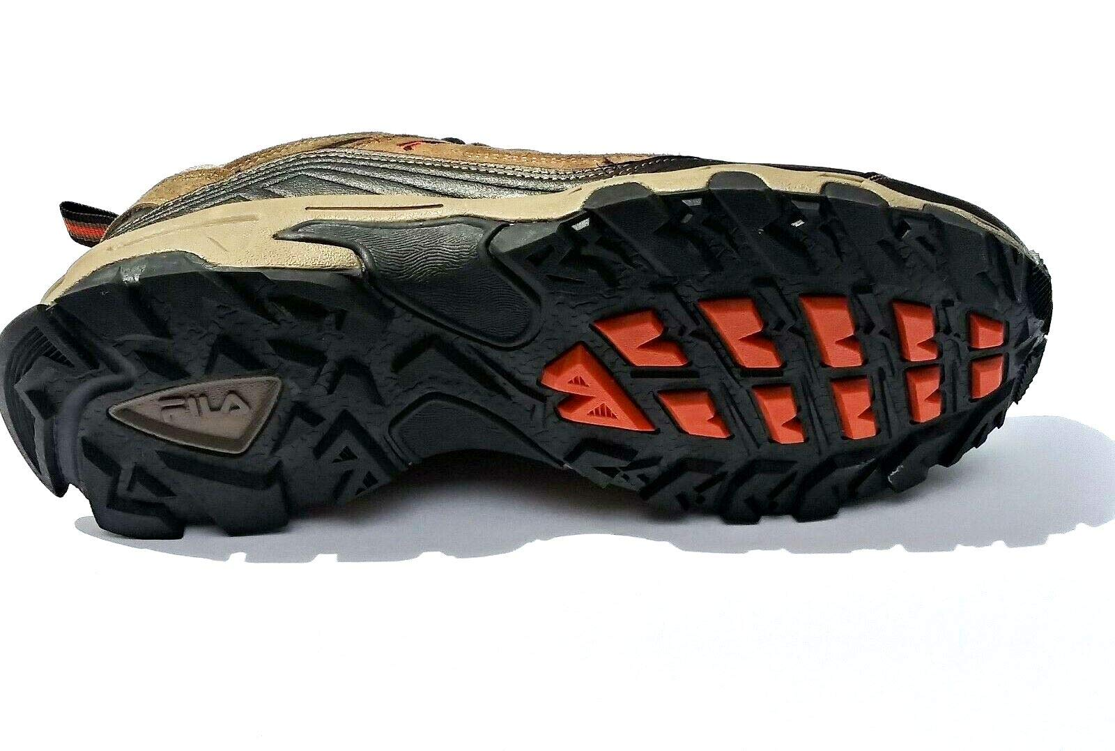 Fila Men's Outdoor Hiking Trail Running Athletic Shoes Brown/Orange