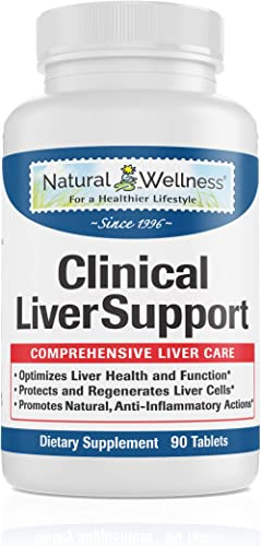 Liver Cleanse, Detox, Repair Optimizer 1,680mg of Total Liver Protection Milk Thistle 10X Absorption, Turmeric 95 Curcumin, Beet, and More Natural Wellness Clinical Liver Support