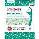 Plackers Dental Floss Picks, Micro Mint, 150 Count