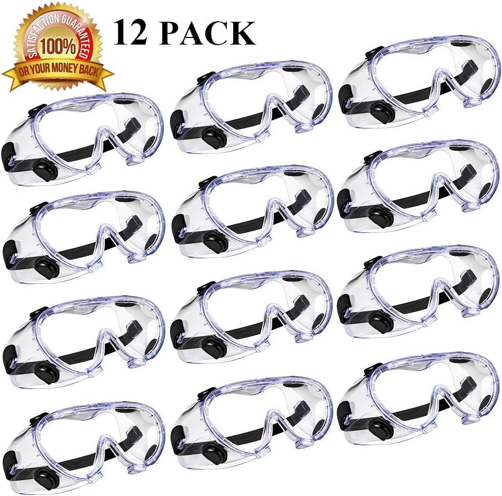 Gafas Protectoras - para protección UV, a prueba de viento, a prueba de salpicaduras - Gafas de seguridad de laboratorio químico - antiniebla - CE EN166,ANSI Z87.1