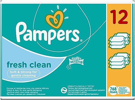 Pampers Feuchte Tücher Fresh Clean Vorteilspack Giga  Pack  768 Stück TOP