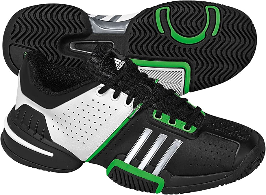 ADIDAS Barricade 6.0 xJ Junior Tennis Shoes, Black/White/Green ...