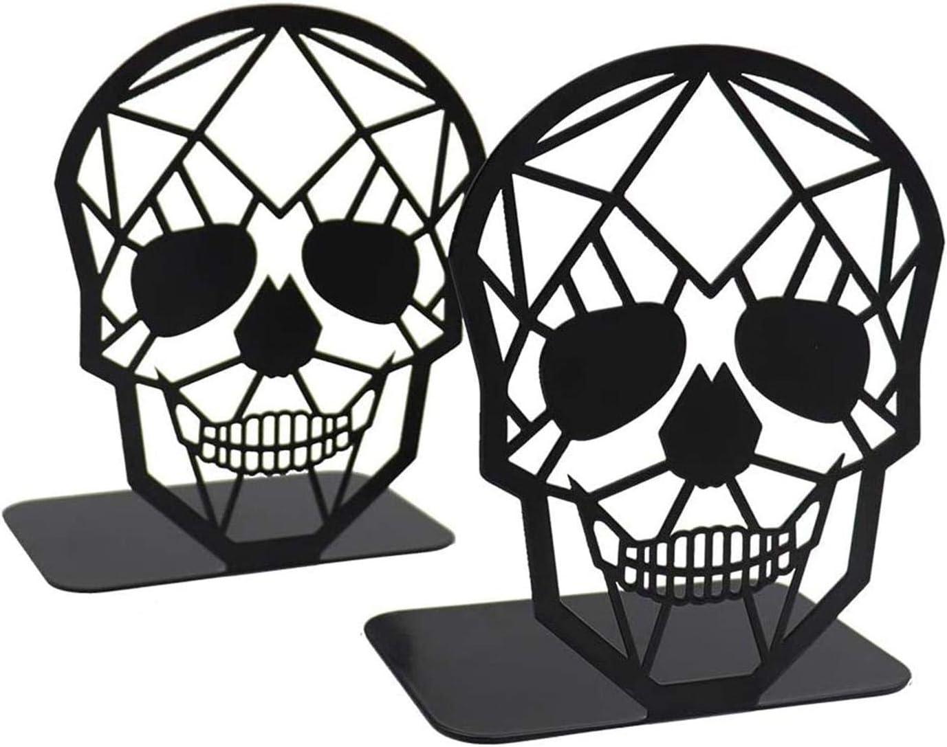 supporti fermalibri decorativi scheletrati Fermalibri supporto per mensola per casa e ufficio fermalibri in metallo nero 1 paio nero