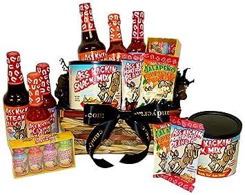 Amazon.com : Ass Basket, Ass Kickin' Hot Sauce Gift Basket : Gifts ...