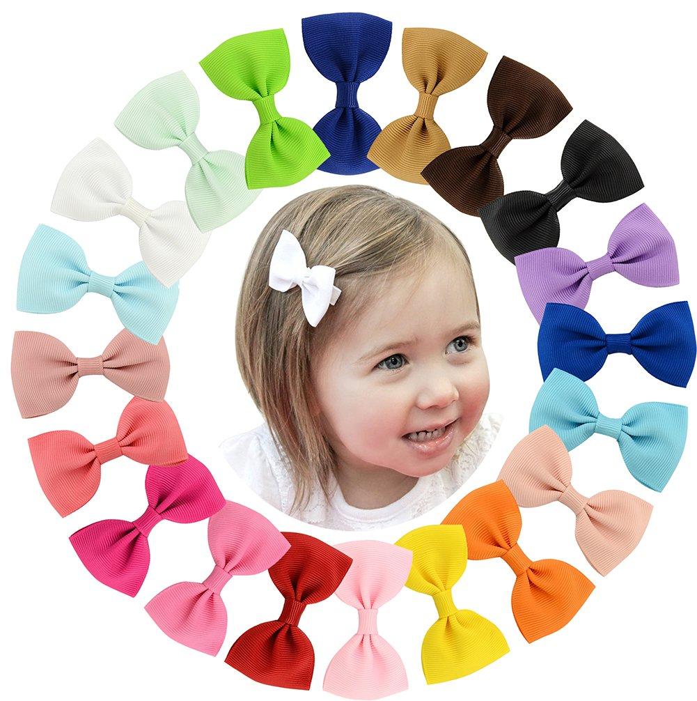 20pcs pequeño bebé del pelo arquea los clips de la cinta para niñas niños pequeños niños infantil fino lazo de pelo YHXX YLEN 643-00-20