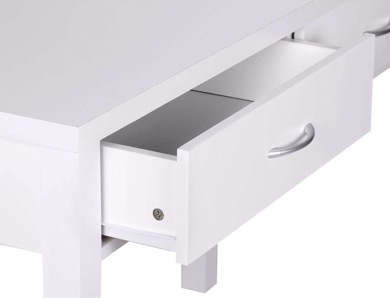 Sympathisch Schreibtisch Weiß Mit Schubladen Ideen Von Amstyle Sam 2 Holz, Moderner Konsolentisch Für