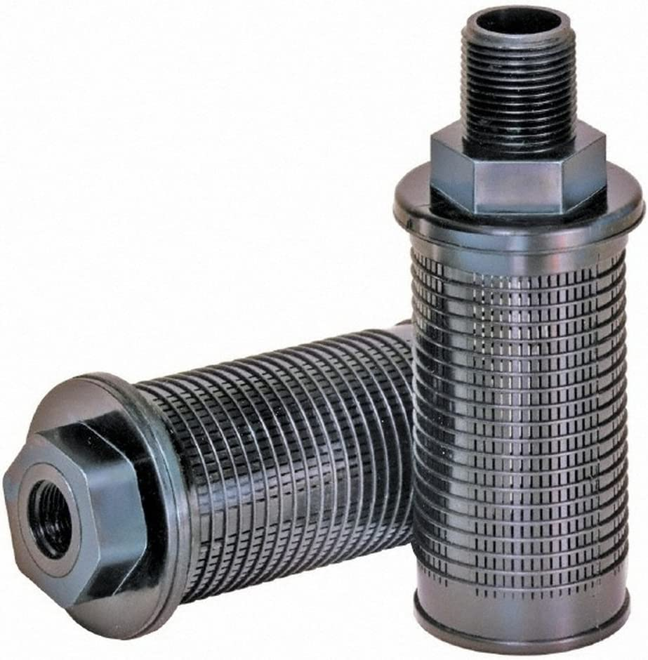 2-1//4 Diam Male Suction Strainer without Bypass 3 GPM 3//8 Port NPT 11 LPM 5.35 Long 30 Mesh