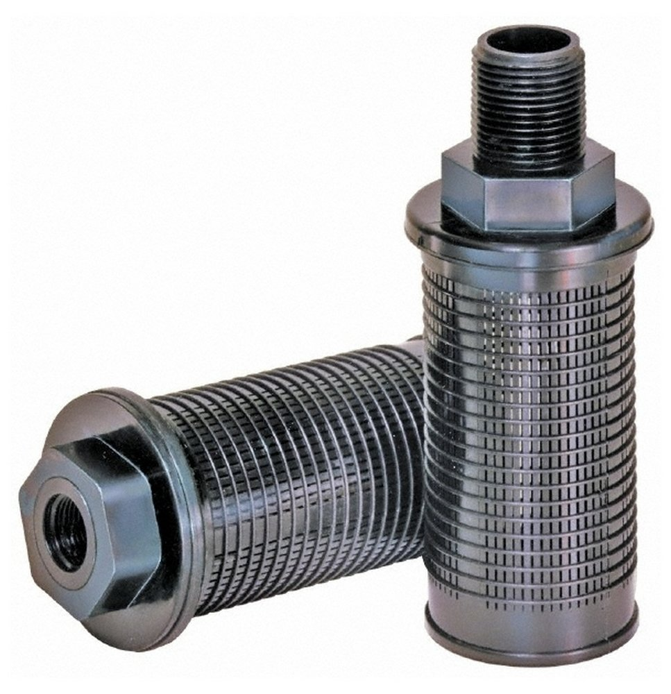 30 Mesh, 11 LPM, 3 GPM, 2-1/4'' Diam, Male Suction Strainer without Bypass, 3/8 Port NPT, 5.35'' Long by Flow Ezy Filters