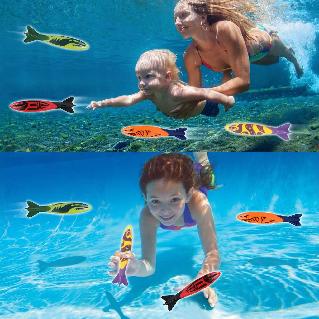 Edealing Satz 4pcs Toypedo Bandits Pool Tauchen Spiel Sommer