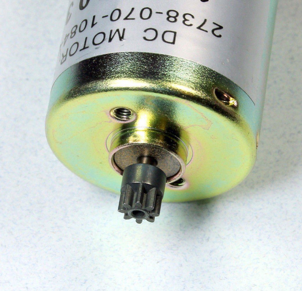 12 V Igarashi DC Motor with 8 Tooth Gear 12 VDC 10000 RPM 10,000 RPM