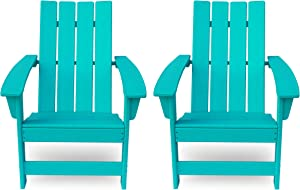 Christopher Knight Home 312642 Robert Outdoor Contemporary Adirondack Chair (Set of 2), Teal