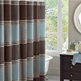 Madison Park MP70-114 Lincoln Square Polyester Shower Curtain