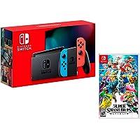 Nintendo Switch Rouge/Bleu Néon 32Go + Super Smash Bros: Ultimate