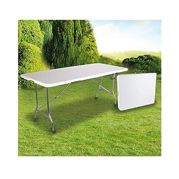 OSE Grande Table de Jardin Pliante Blanche 8 pers 180 cm: Amazon.fr ...