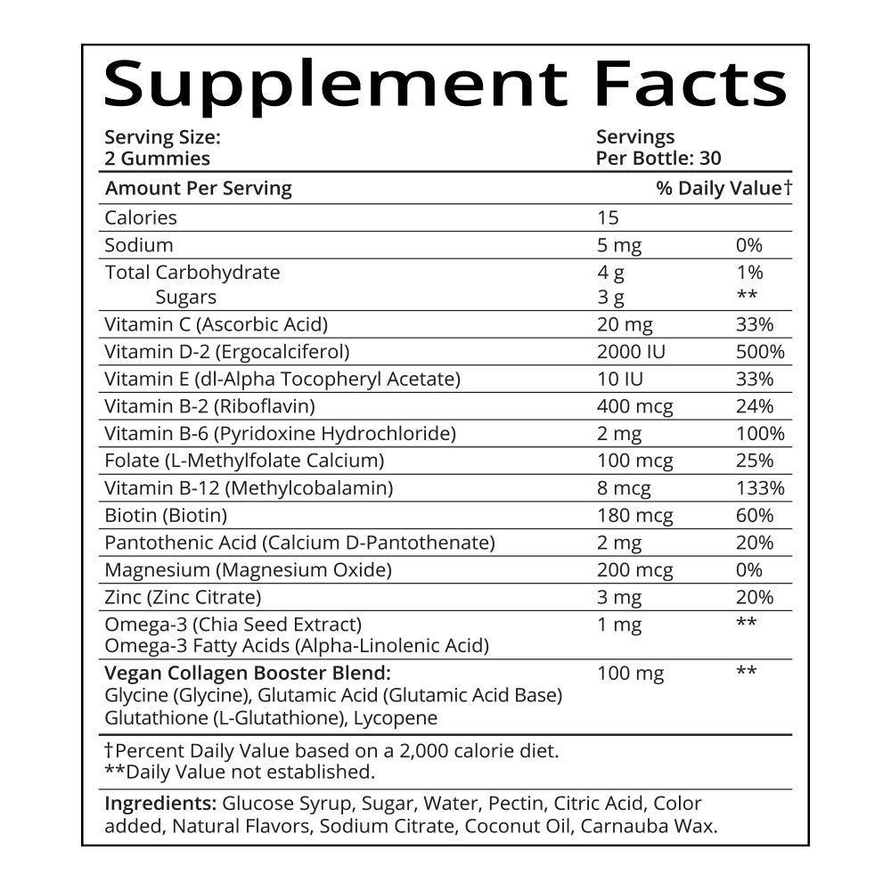 SugarBearHair Women's Multi Vegan MultiVitamin (3 Month Supply) by SugarBearHair (Image #2)