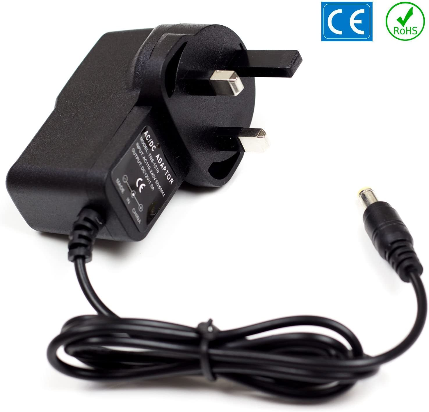 REPLACEMENT POWER SUPPLY FOR THE YAMAHA PSR-E303 KEYBOARD ADAPTER UK 12V