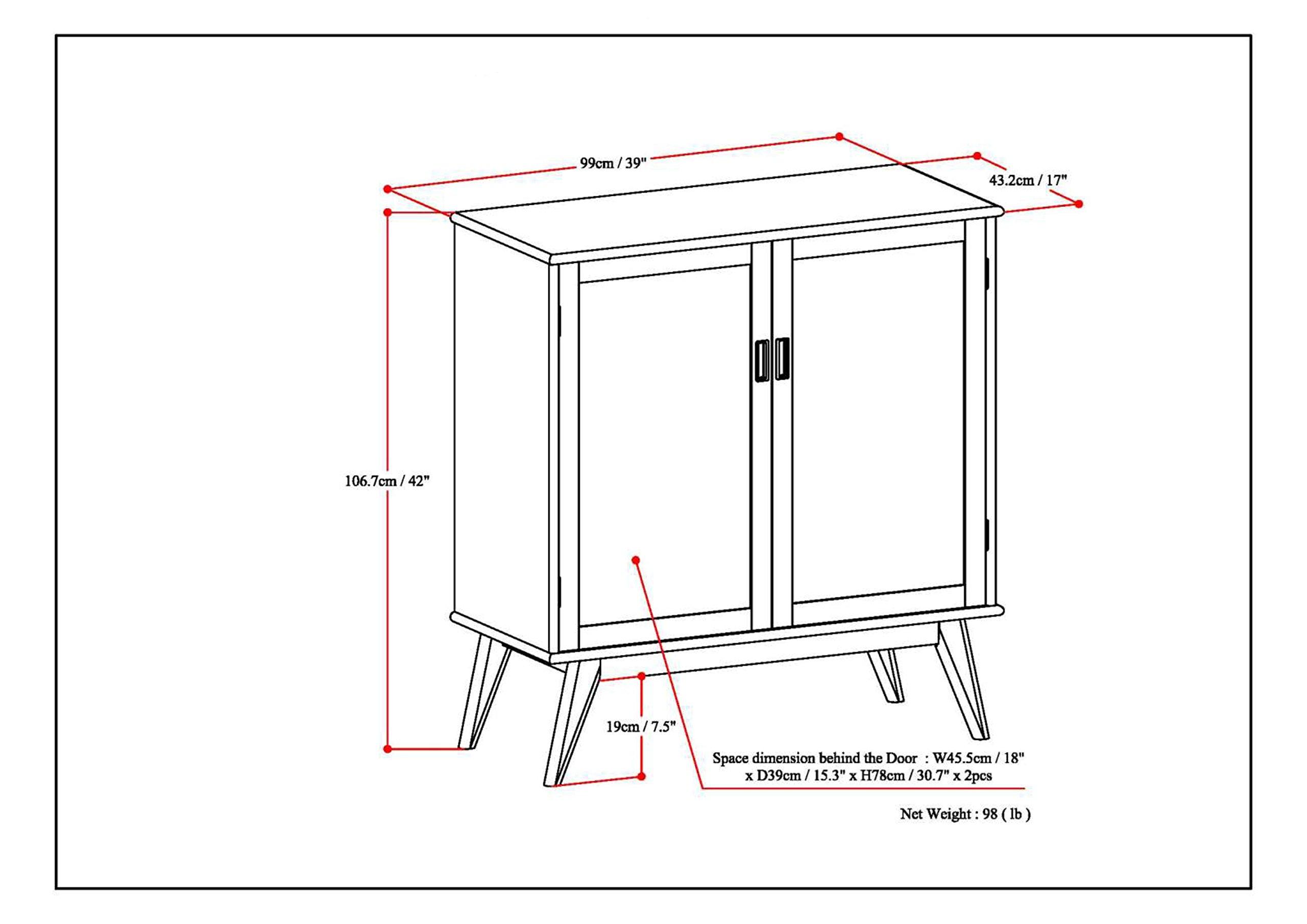 Simpli Home Draper Mid Century Solid Hardwood Storage Cabinet, Medium, Auburn Brown by Simpli Home (Image #6)