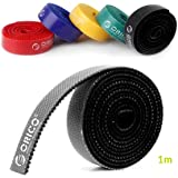 ORICO 5 Roll Reusable Cable Straps Cable Ties, Hook & Loop Nylon Fastening Tape Wire Organizer for Cords Cable Management(Total 5 meter)