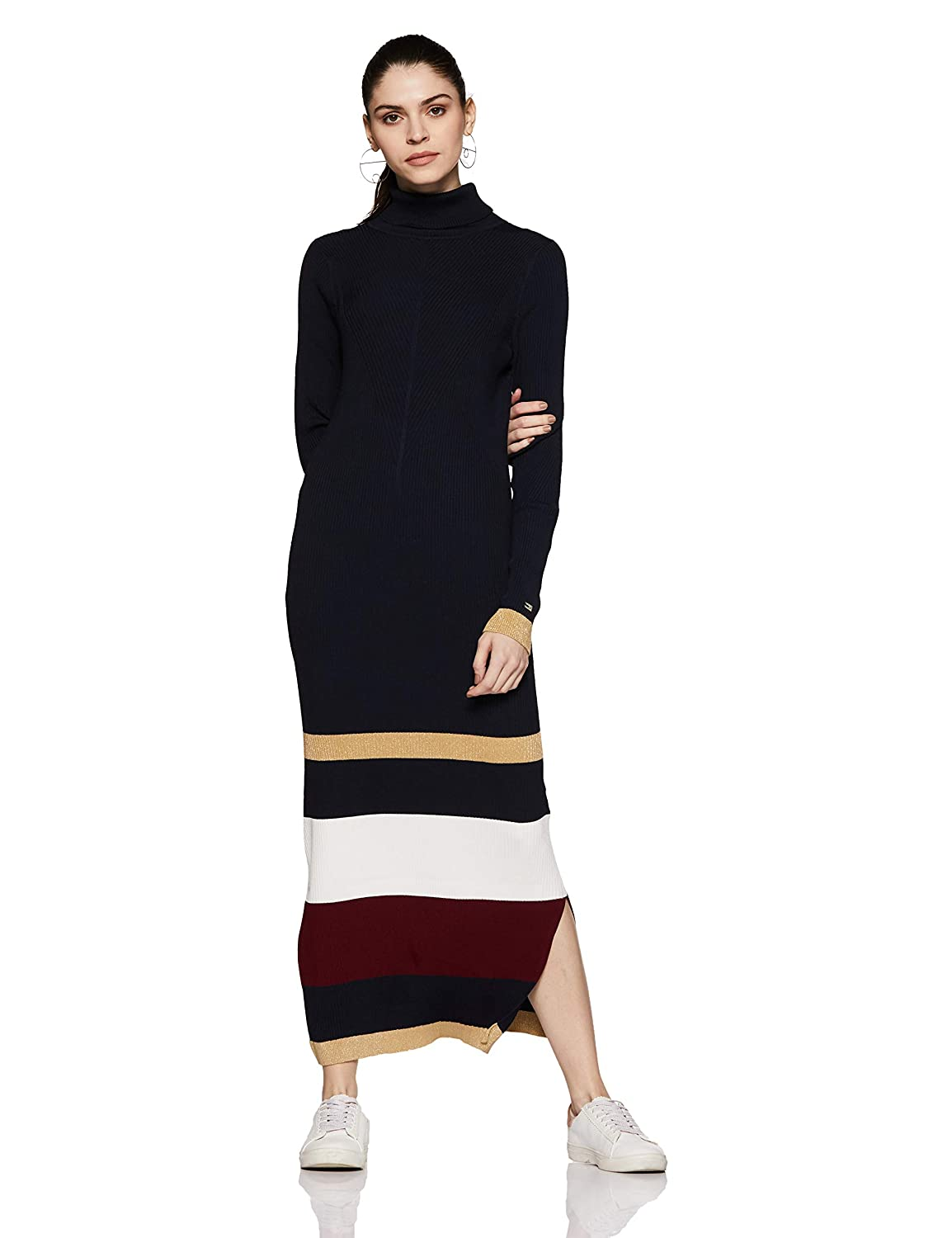 f82994c21d1 Tommy Hilfiger Women s A-Line Maxi Dress  Amazon.in  Clothing   Accessories